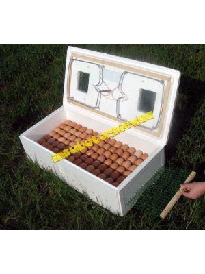Инкубатор бытовой ИБ-100 на 120 яиц с механическим переворотом