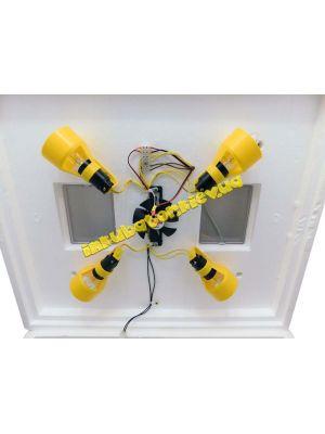 """Бытовой автоматический инкубатор для яиц """"Теплуша"""" на 63 яйца ТЭН + влагомер"""
