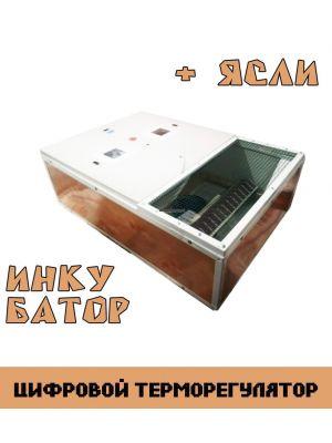 "Ясли (брудер) + инкубатор ""Курочка Ряба ИБ-130Ц"" два в одном (цифровой терморегулятор)"