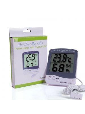 Цифровий термометр вологомір (гігрометр) для інкубатора з виносним датчиком 1.5 м і підставкою
