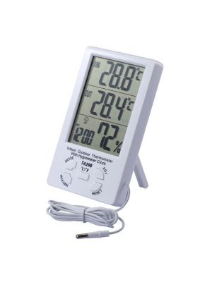 Термометр-гігрометр TA298 з годинником і виносним датчиком